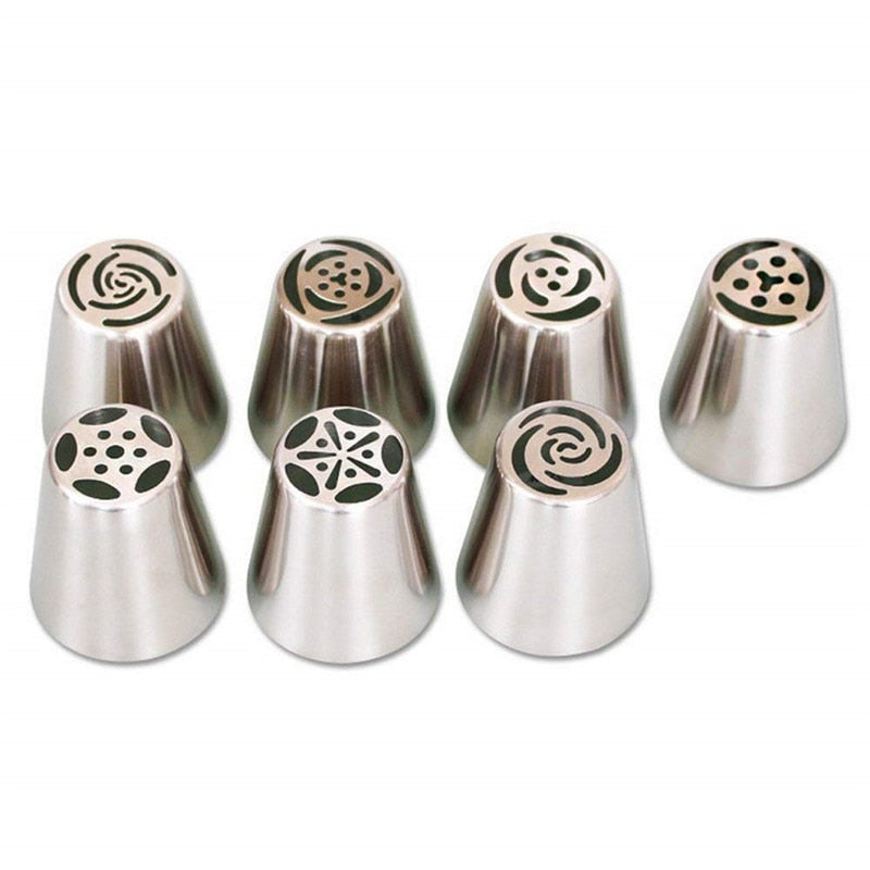 13pcs/set Stainless Steel Russian Tips Pastry Nozzles Cream Confectionery Cupcake Cake