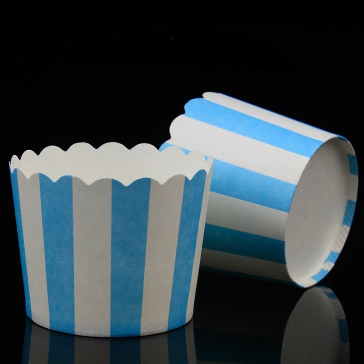 Hot 50pcs / Bag Multicolor Cupcake Baking Cup Styling Cooking Tool Muffin Cake Cup Kitchen Cake