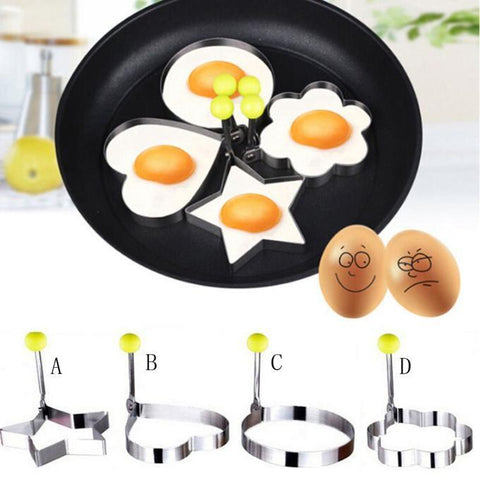 Hot Fried Egg Pancake Shaper Kitchen Tool Stainless Steel Shaper Mould Mold Kitchen Rings Heart