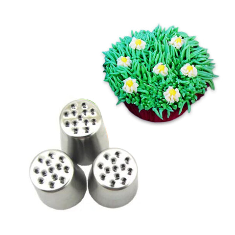 Hot Grass Cream Icing Nozzles Stainless Steel Pastry Fury Decoration Cupcake Head Cake Decorating