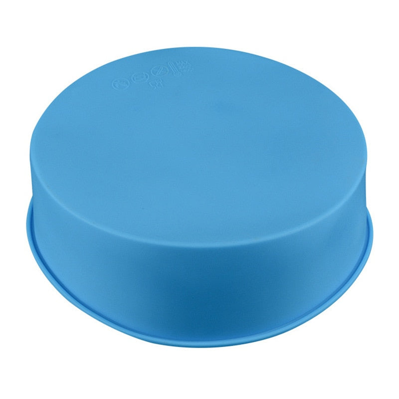 Hot New 6 Inch Cake Mold Silicone Round Mousse Bread Muffin Pan Bakeware Mould Baking Tray XH8Z OC26