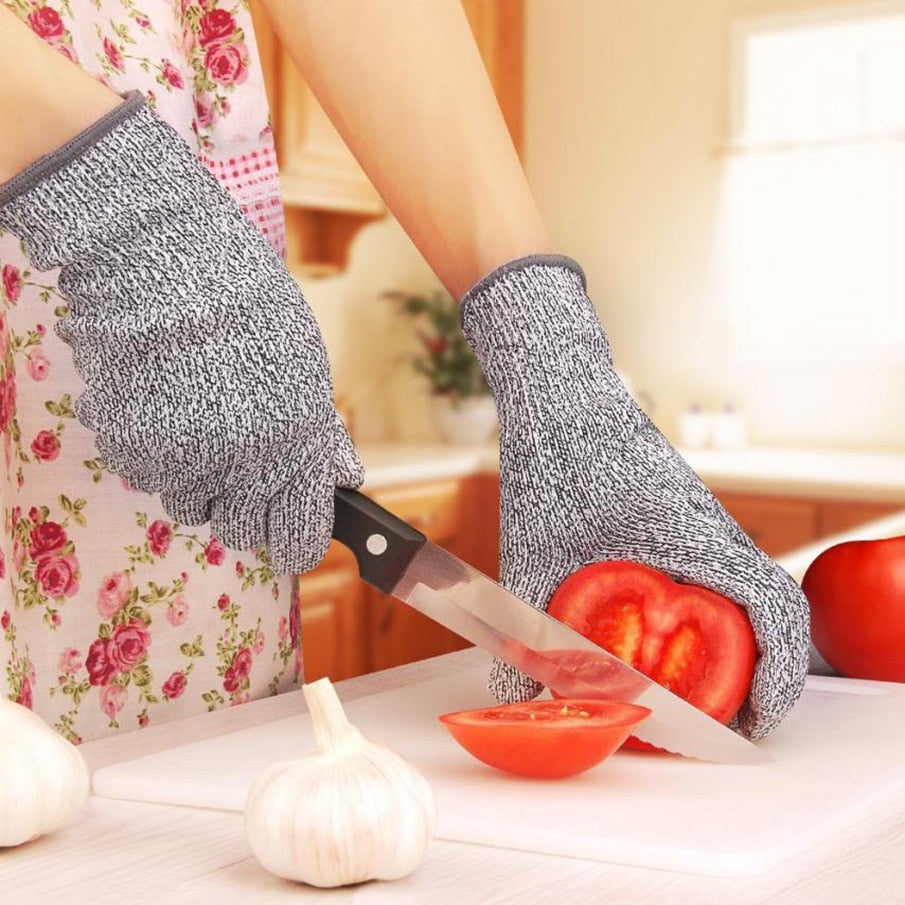 ISHOWTIENDA Microfiber microwave oven protective gloves cut heat resistant kitchen cut vegetables