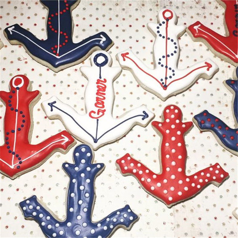 KENIAO Anchor Cookie Cutter for Kids Birthday Party - Biscuit / Fondant / Pastry /Bread Cutter - 9.4