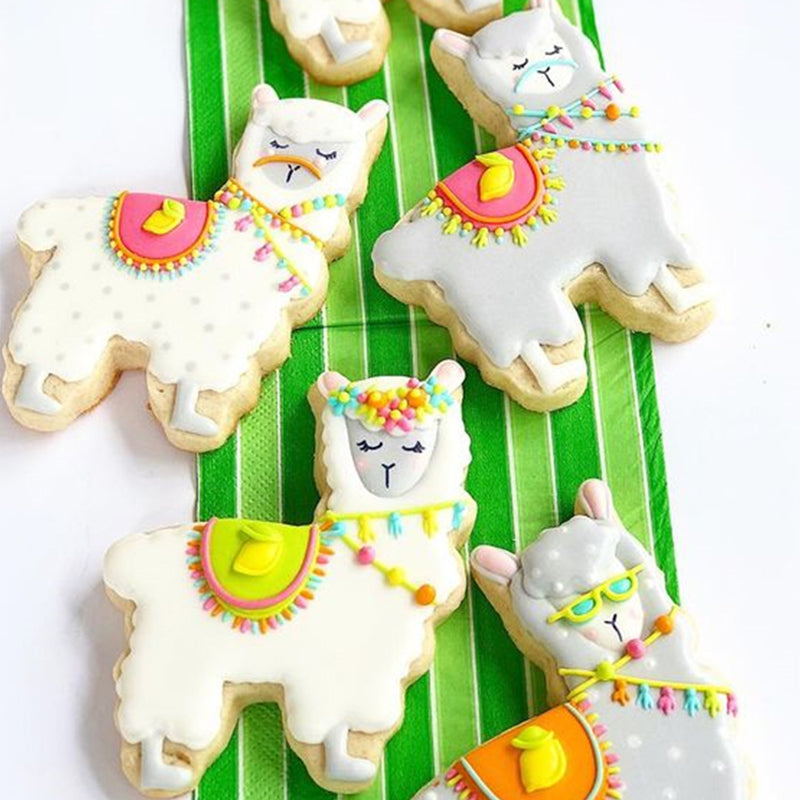 KENIAO Cactus Alpaca Cookie Cutter for Kids Birthday Party Cutters - 3Piece -Biscuit / Fondant /