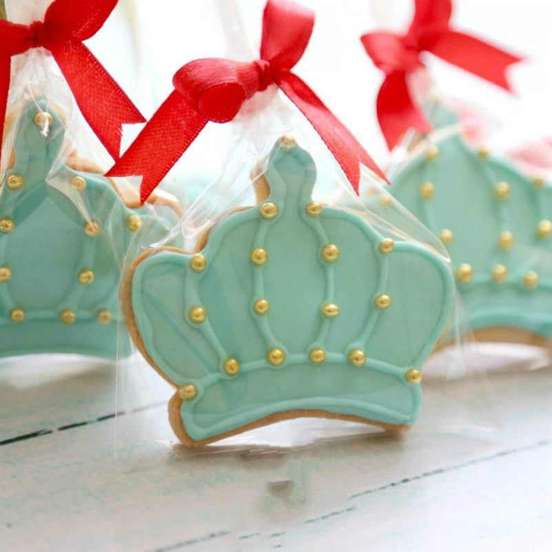 KENIAO Crown & 1 Cookie Cutters Set - 3 Piece - Frame Fondant Cutters - Crown A / Crown B and