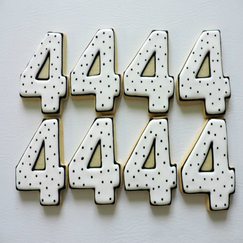 KENIAO Numbers Cookie Cutter Set for Kids Party - Biscuit / Fondant / Pastry / Bread