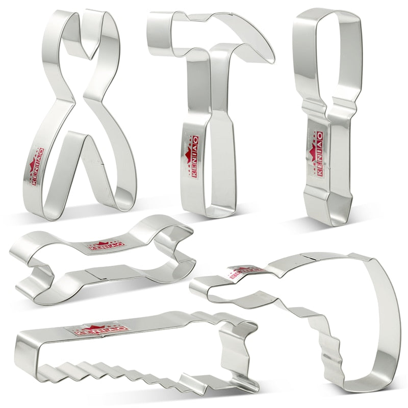 KENIAO Tools Cookie Cutter Set for Labor day / Father's day - Hammer / Wrench-Biscuit / Fondant /