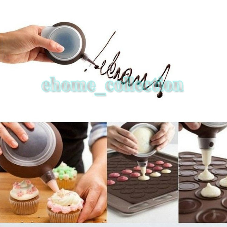 Kitchen Accessories Decorating Tip Sets Silicone Macaron Cake Tools Icing Piping Decorating Pen 3