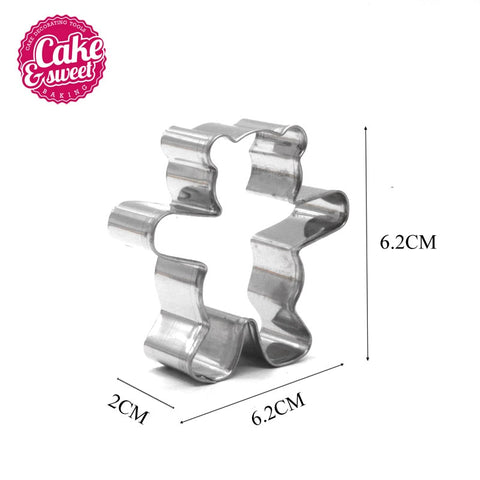 Kitchen Cookie Cutters Stainless Steel Bear Shape Animal Biscuit Cookie Cutters Fondant Pastry