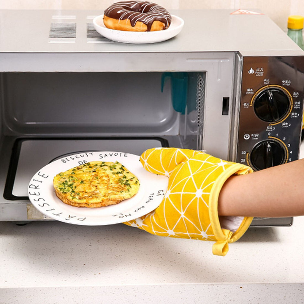 Kitchen Cooking  Microwave Glove Potholder Thickening High Temperature Oven Gloves for BBQ or