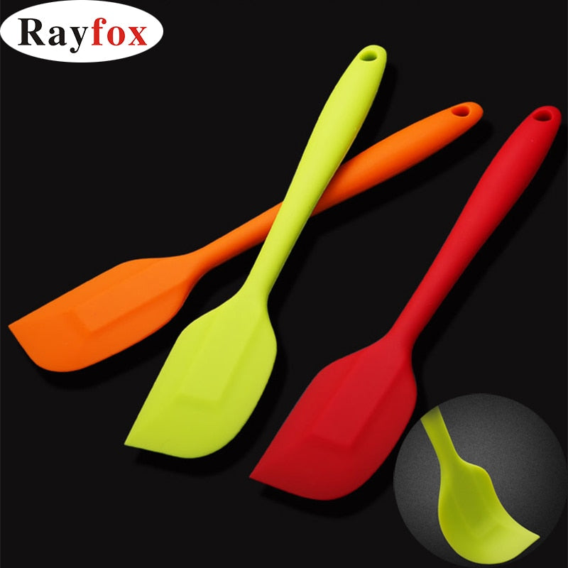 Kitchen Food Grade Silicone Spatula Non-stick Butter Cream Spatula Pastry Scraper Bakeware Cooking