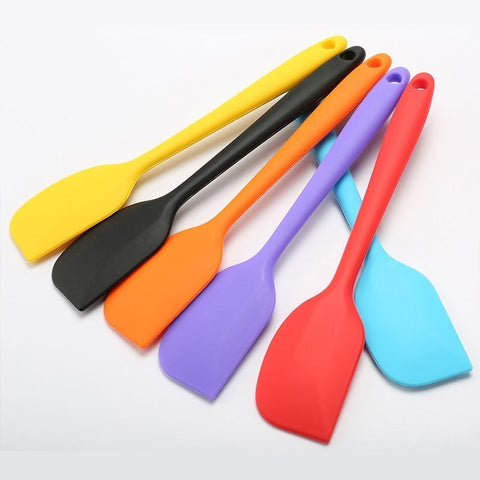 Kitchen Silicone Scraper Cream Butter Cake Spatula Mixing Batter Scraper Brush Butter Mixer Cake