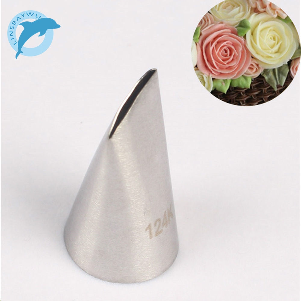 124K# Rose Cake Cream Decorating Tip Sugar Craft Icing Piping Pastry Nozzles