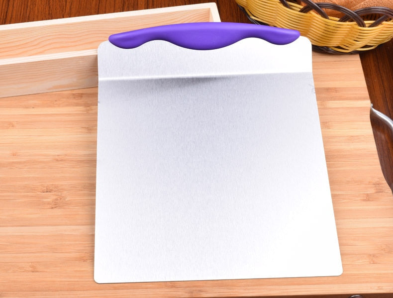 Large Cake Lifter Spatula Server Dessert Bread Pastry Transfer Stainless Steel Pizza Dough Scraper