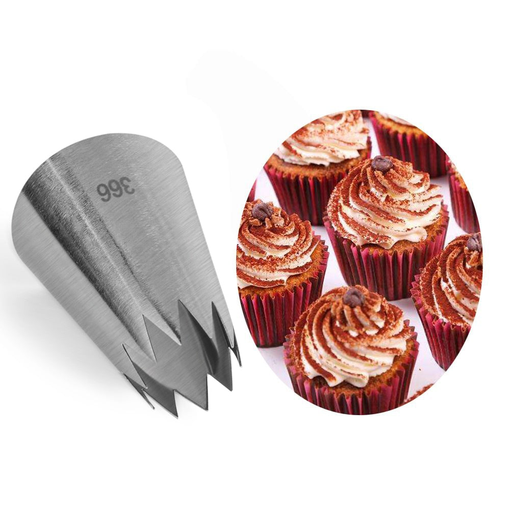 Large Ice Cream Nozzles Pastry Cake Decorating Tools Icing Piping Nozzle Tips Cupcakes Baking