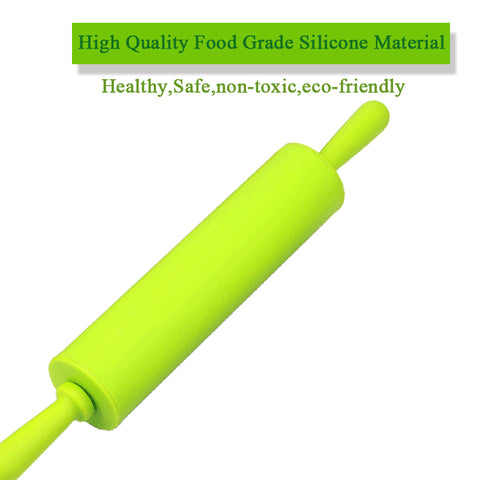 Large Non-Stick Food Grade Silicone Rolling Pin Baking Tool Cake Dough Pizza Fondant Pasta Roller