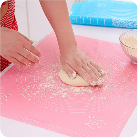 Large Size Silicone Baking Tools Soft Rolling Pastry Boards Kneading Dough Mat With Calibration