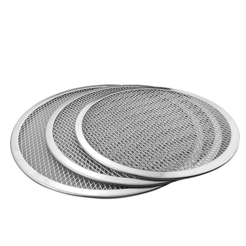 Aluminum Flat Mesh Pizza Screen Round Baking Tray Metal Net Bakeware Kitchen Tools Pizza