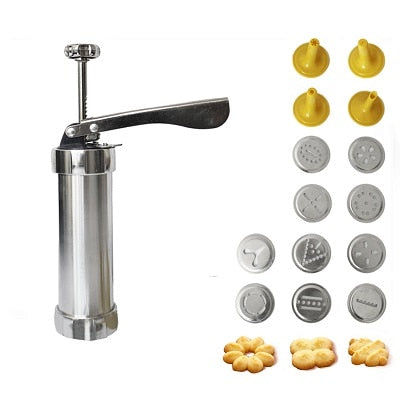 Baking Tools Manual Biscuit Cookie Press Stamps Set Cake Decorating Tools Maker with 4