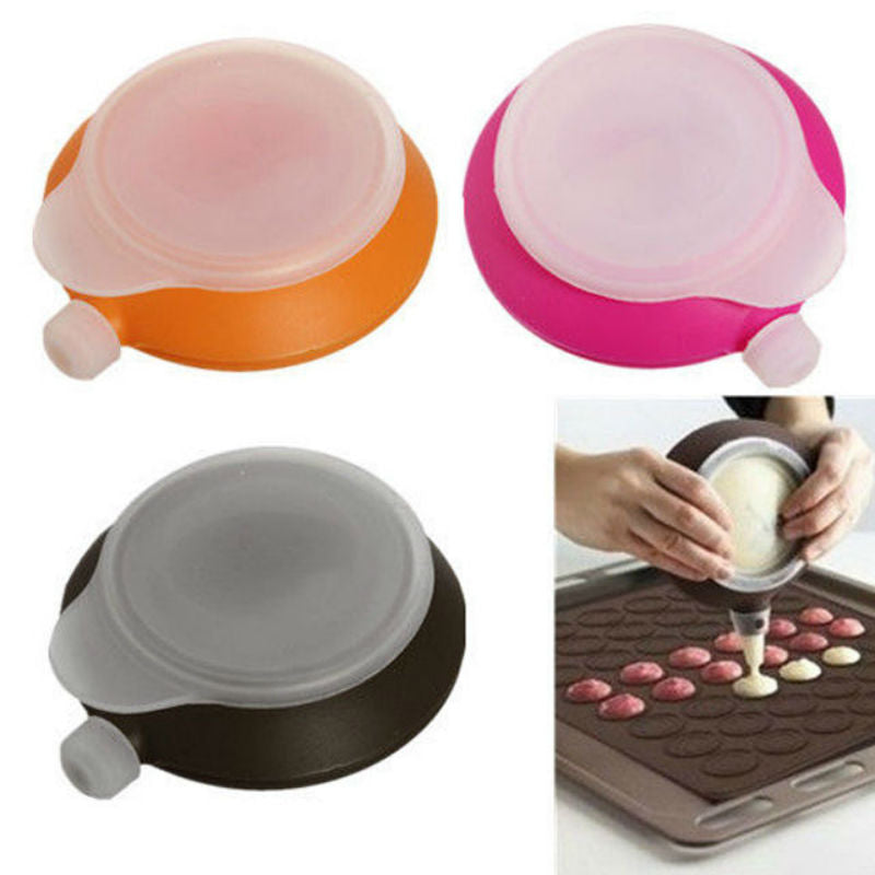 Macaron cake dispenser Decorating Pen Pastry Cream Cake Muffin  batter 3 Nozzle Set Kit Silicone