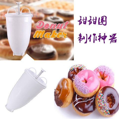 Magic Fast Plastic Donut Maker Waffle Molds Kitchen Accessory Bakeware Doughnut Maker Cake Mold