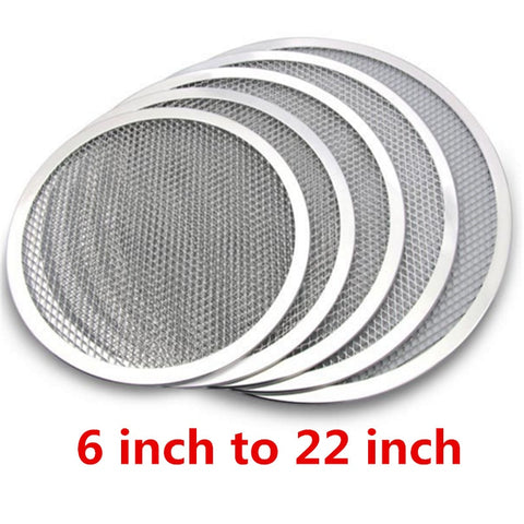 Mesh Grill Pizza Screen Round Baking Tray Accessories Net Kitchen Tools Ovens Kit Molds for Pizza,