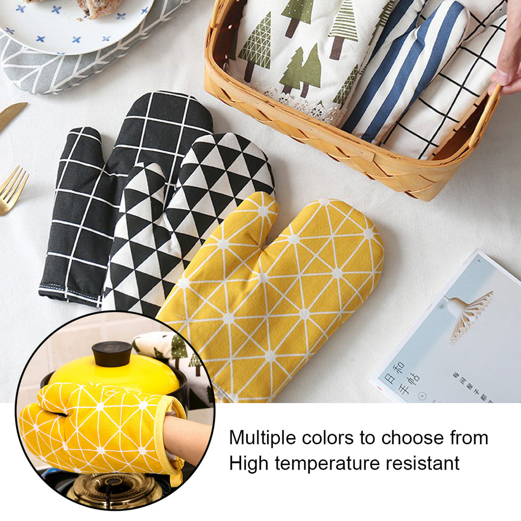 Microwave Glove Potholder Non-slip Thickening High Temperature Oven Gloves for BBQ or Kitchen