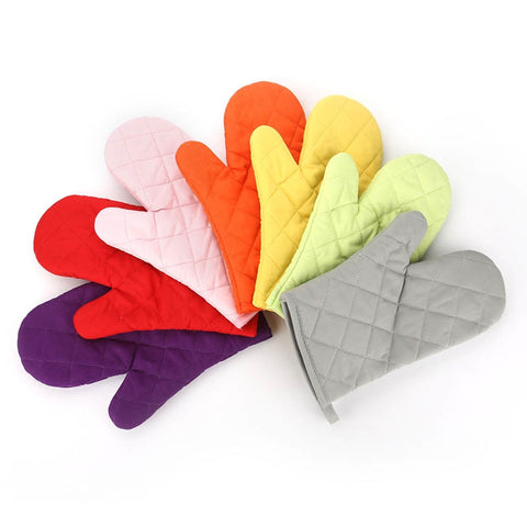 Microwave Oven Glove Insulated Kitchen Tool Baking Gloves Cotton Heat Resistant 1Pcs  Non-slip