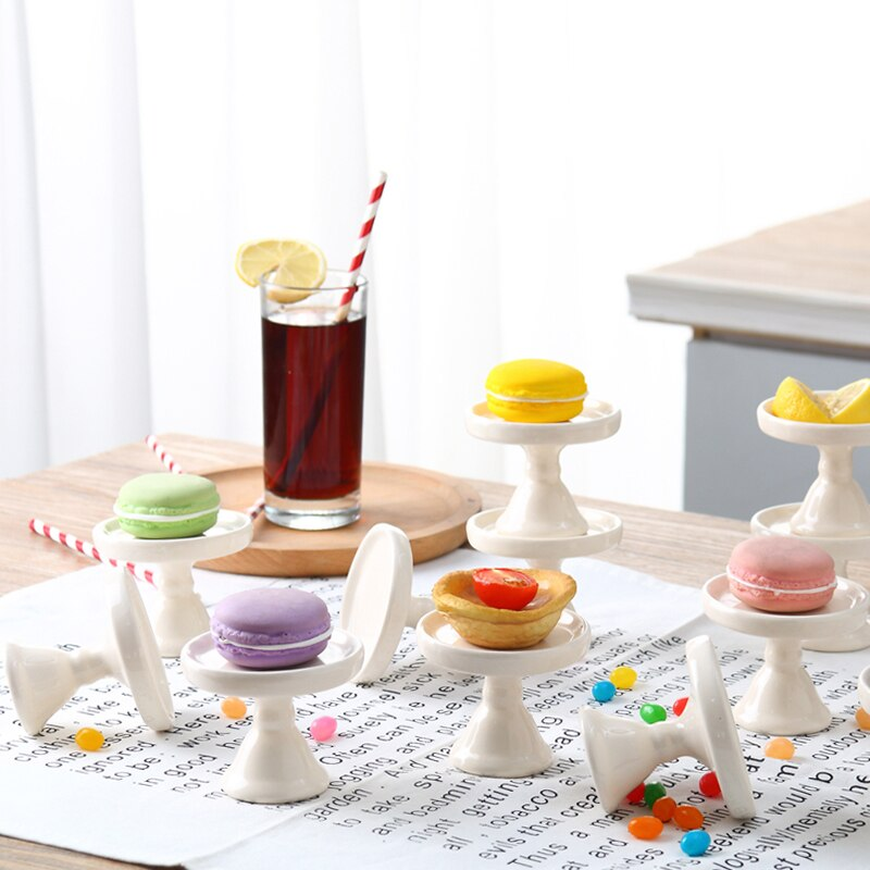 Mini Ceramic Cake Pan Dessert Plate Cupcake Stand Colorful Fruit Dishes Candy Plate Kitchen