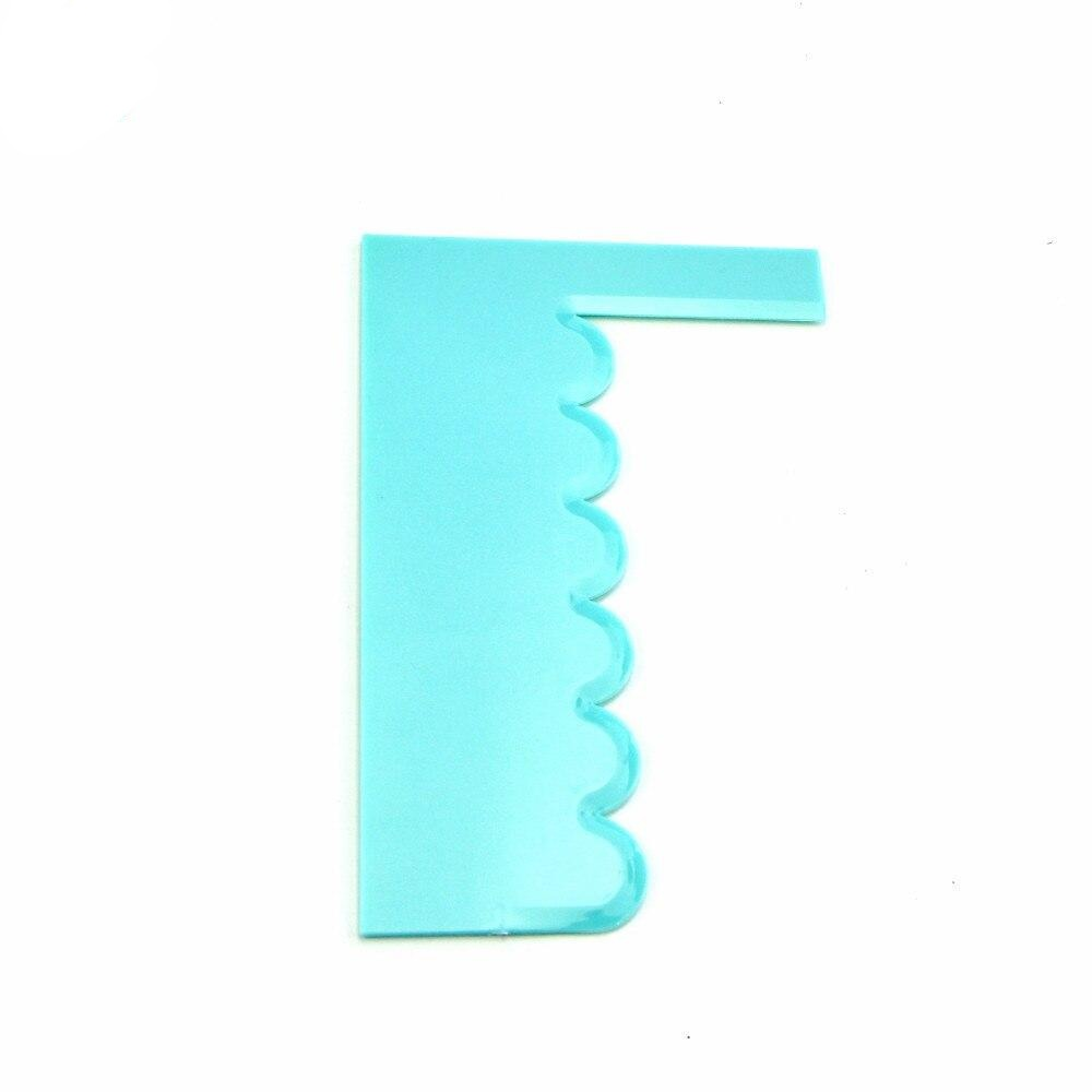 Modelling Smoother Polisher Cake Scraper Blade Pastry Spatulas Pastry Icing Comb Set Baking Tools