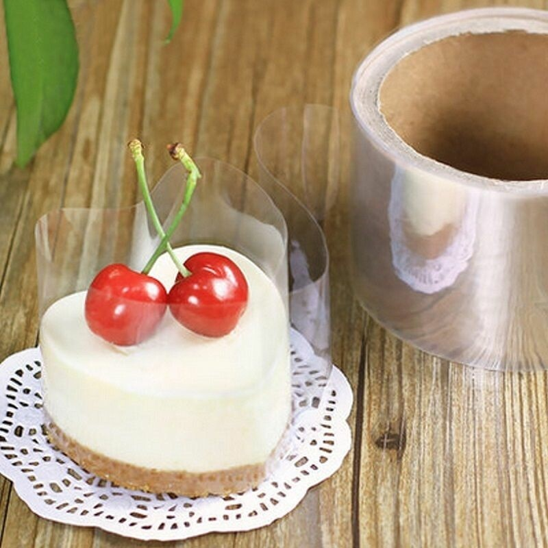 Mousse Cake Surrounding Edge Wrapping 6cm*210m Plastic Transparent Mousse Wrapper Baking Tool