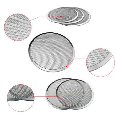 6-22inch Seamless Aluminum Pizza Screen Baking Tray Metal Net Bakeware Kitchen Tools