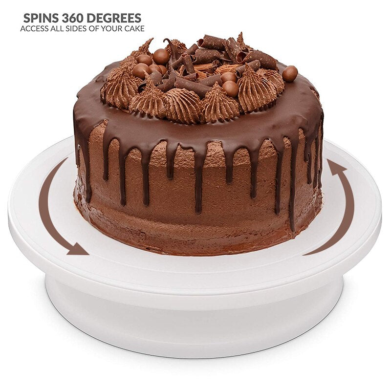 Kitchen Cake Plate Turntable Rotating Anti-skid Round Cake Stand Cake Decorating Rotary Table
