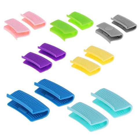 Multi-Color Kitchen Silicone Insulated Oven Gloves Casserole Ear Pot Holder Handle Anti-Hot