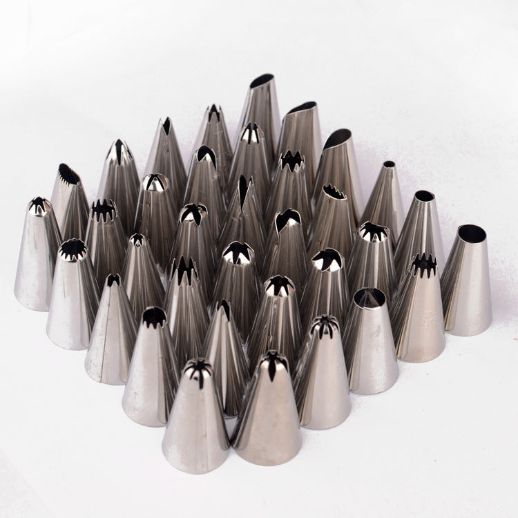 Qualified Cake Decorating 24Pcs/set Large Stainless steel Icing Piping Nozzles Pastry Tips Set