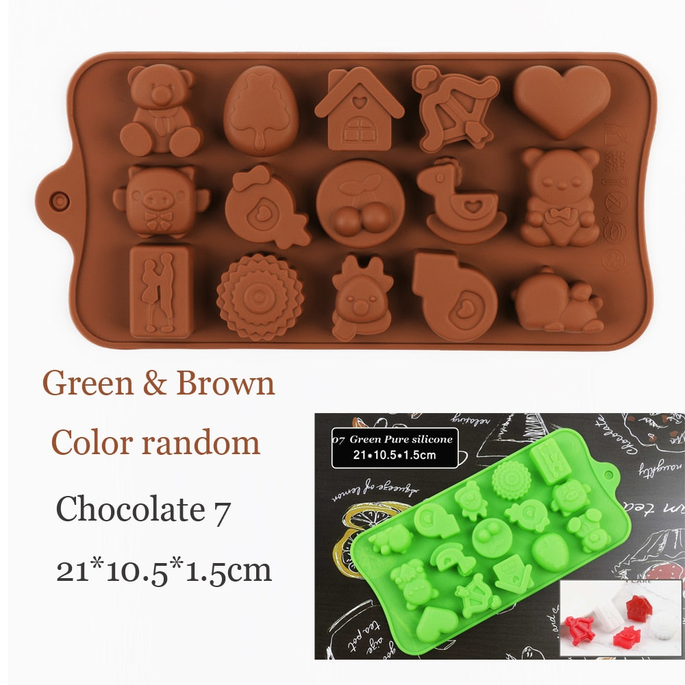 Silicone Chocolate Mold 29 Shapes Chocolate baking Tools Non-stick Silicone cake mold Jelly