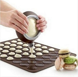 New Silicone Macaron Macaroon Pastry Oven Baking Mould Sheet Mat 30-Cavity DIY Mold Baking Mat
