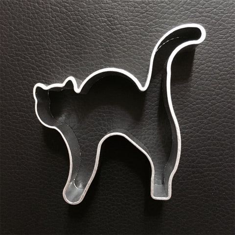 New aluminium alloy Halloween Cat shape cookie cutter Cake cutter cookies mold