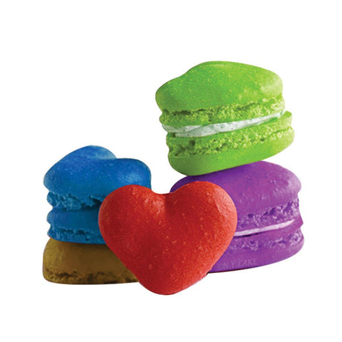 Heart-shaped 42-cavity Silicone Pastry Cake Macaron Macaroon Oven Baking Mould Sheet Mat