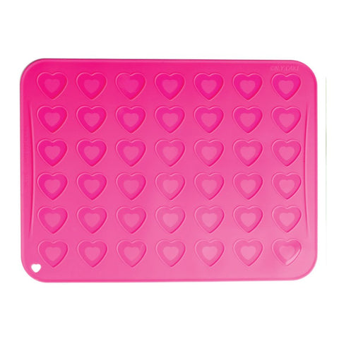 New heart-shaped 42-cavity Silicone Pastry Cake Macaron Macaroon Oven Baking Mould Sheet Mat