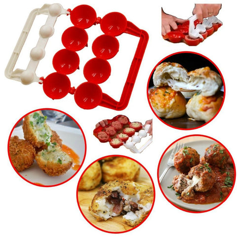 Newbie Meatballs Mold Stuffed Fish Meat Maker Homemade DIY Patty Maker Meat Tools Cooking Tools