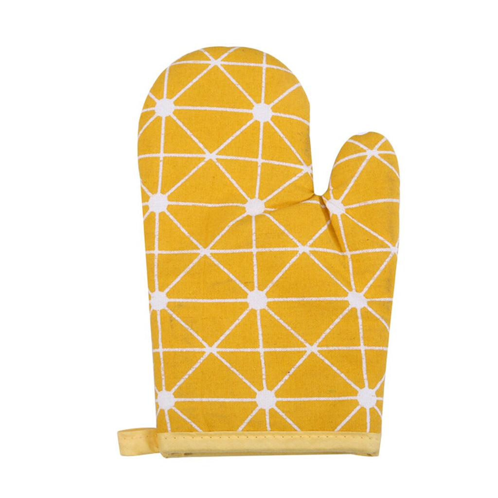 Nice 1Pcs Cotton Oven Glove Heatproof Mitten Kitchen Cooking Microwave Oven Mitt Non-slip Glove
