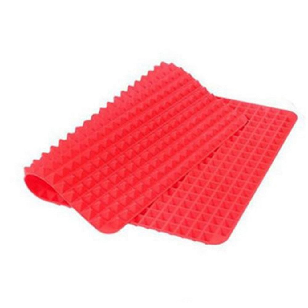Non-Stick Red Pyramid Bakeware Pan Nonstick Silicone Baking Mats Pads Moulds Cooking Mat Oven Baking