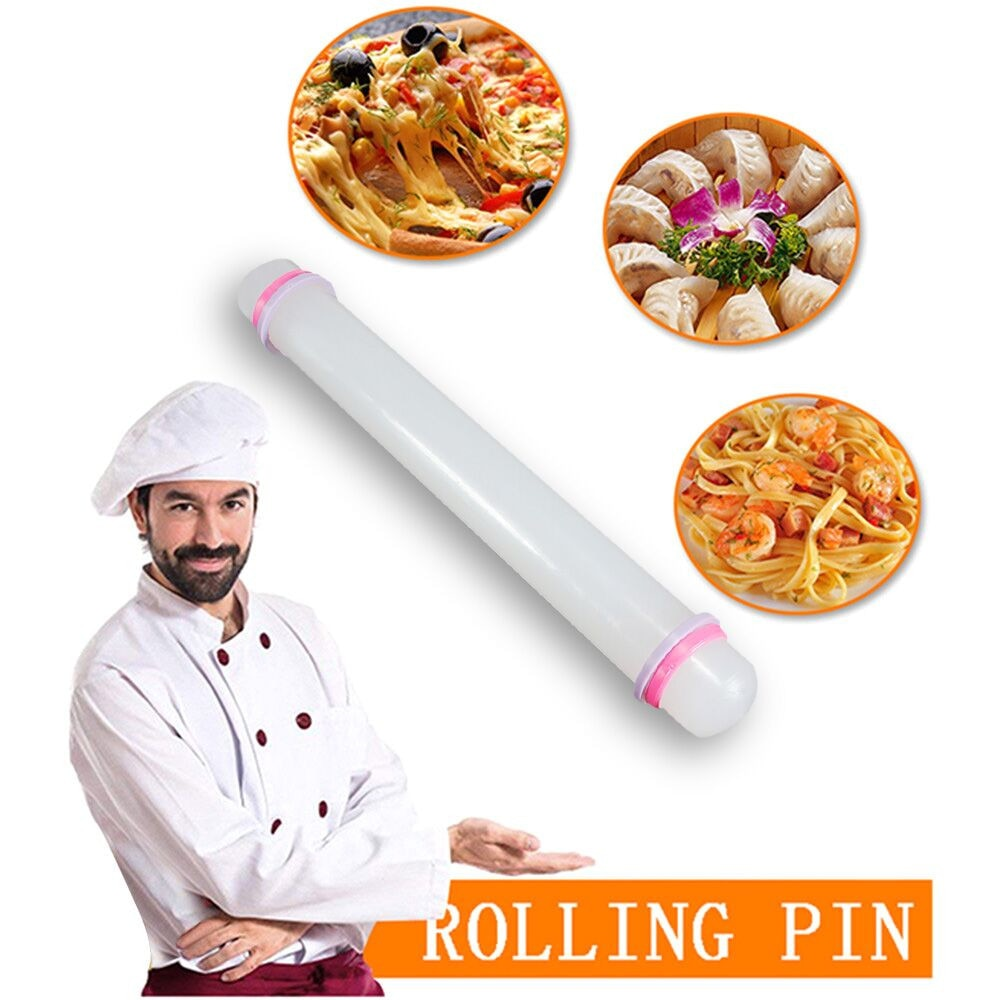 Non-stick Fondant Roller Silicone Rolling Pin Cake Pastry Cooking Baking Fondant Cake Dough Roller