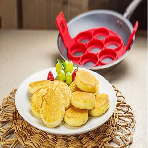 Nonstick Pancake Maker Silicone Egg Ring Maker Kitchen Perfect Pancakes Easy Flip Breakfast Omelette