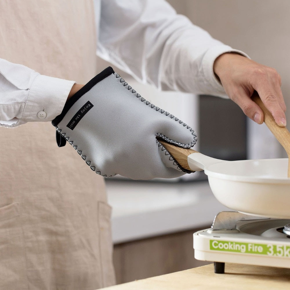 OTHERHOUSE 1Pc Japanese Rubber Oven Mitt Kitchen Cooking Microwave Oven Gloves Pot Holder