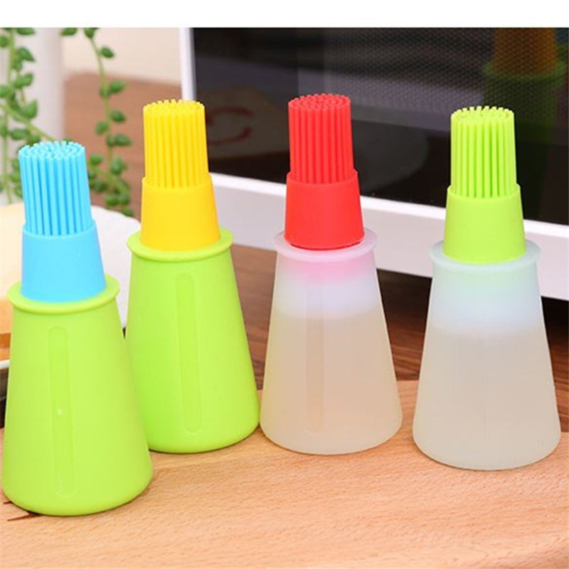 Oil Brush Safety Flapjack Barbecue Supplies Oil Brushes Silicone Baking Kitchen Oil