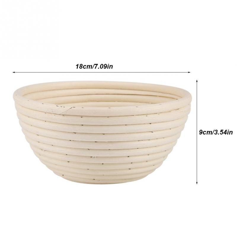 Oval Proofing Basket Set Handmade Rattan Bread Baking Kit Kneaded Dough Bread Making Storage Basket