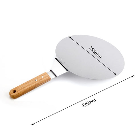 Pizza Stone Baking Pastry Tools 1 Piece Stainless Steel Anti-scalding Pizzas Spatula Oak Handle Cake