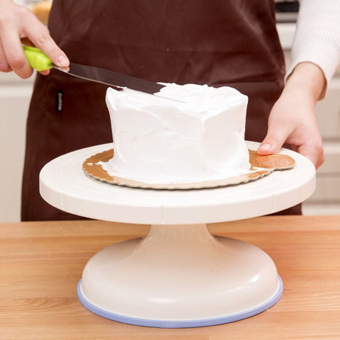 Plastic Cake Rotary Table DIY Baking Tool Cake Stand Cake Turntable Rotating Cake Decorating